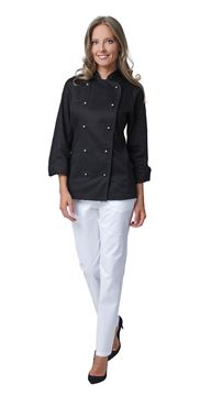 ΣΑΚΑΚΙ ΣΕΦ ΓΥΝΑΙΚΕΙΟ SIGGI HORECA AMABEL WOMAN CHEF JACKET BLACK