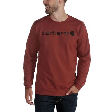 T-SHIRT WORKWEAR CORE LOGO 104107 RED HEATHER - CARHARTT