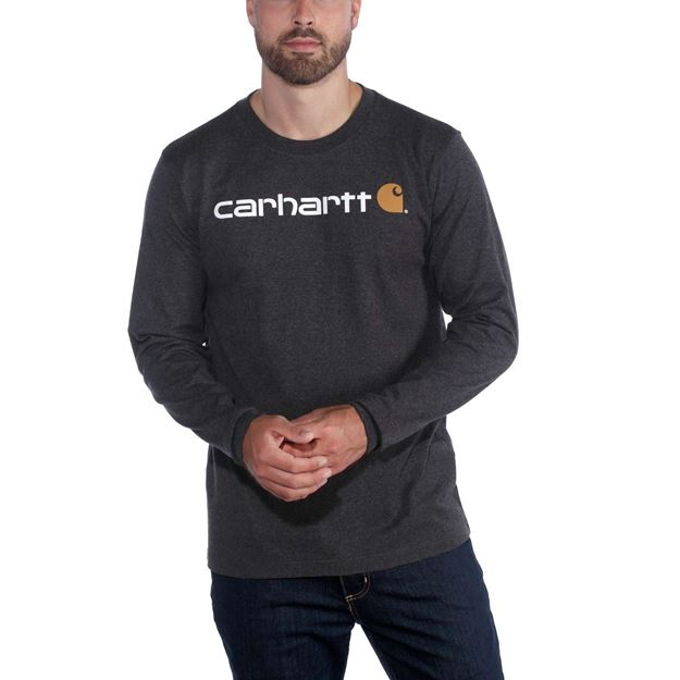 T-SHIRT WORKWEAR CORE LOGO 104107 CARBON - CARHARTT