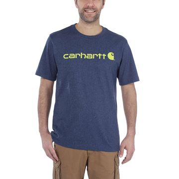 ΜΠΛΟΥΖΑΚΙ CARHARTT 103361 CORE LOGO WORKWEAR SHORT SLEEVE T-SHIRT COBALT BLUE
