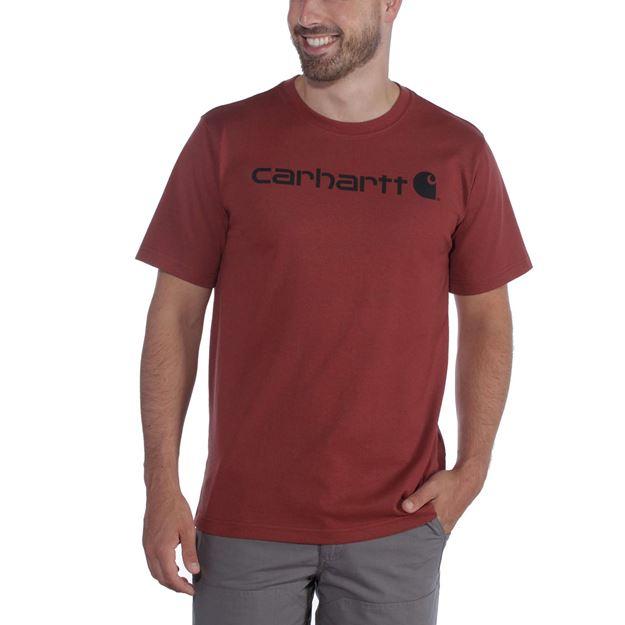 ΜΠΛΟΥΖΑΚΙ CARHARTT 103361 CORE LOGO WORKWEAR SHORT SLEEVE T-SHIRT RED