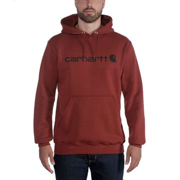 Μπλούζα SIGNATURE LOGO HOODED SWEATSHIRT 100074 RED - CARHARTT