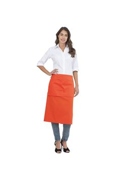 UNISEX ΠΟΔΙΑ SIGGI HORECA EDDIE LONG APRON ORANGE