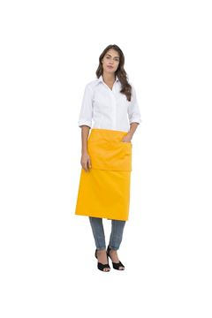 UNISEX ΠΟΔΙΑ SIGGI HORECA EDDIE LONG APRON YELLOW