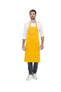 UNISEX ΠΟΔΙΑ SIGGI HORECA KIT BIB APRON YELLOW