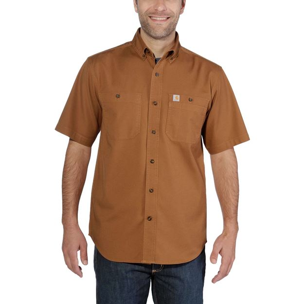 ΠΟΥΚΑΜΙΣΟ CARHARTT LIGHTWEIGHT RIGBY SHIRT 103555 BROWN