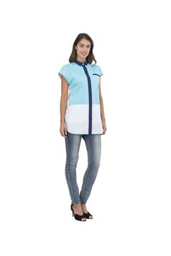 ΓΥΝΑΙΚΕΙΑ ΜΠΛΟΥΖΑ SIGGI HORECA ASHLEY LADIES TUNIC TURQUOISE