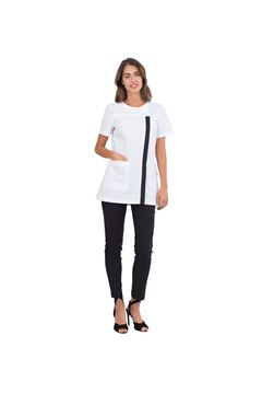 ΓΥΝΑΙΚΕΙΑ ΜΠΛΟΥΖΑ SIGGI HORECA BERTIE LADIES TUNIC WHITE/BLACK
