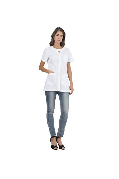 ΓΥΝΑΙΚΕΙΑ ΜΠΛΟΥΖΑ SIGGI HORECA ALPHA LADIES TUNIC WHITE