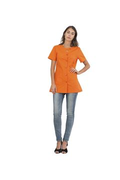 ΓΥΝΑΙΚΕΙΑ ΜΠΛΟΥΖΑ SIGGI HORECA ALPHA LADIES TUNIC ORANGE