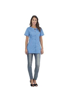 ΓΥΝΑΙΚΕΙΑ ΜΠΛΟΥΖΑ SIGGI HORECA ALPHA LADIES TUNIC LIGHT BLUE