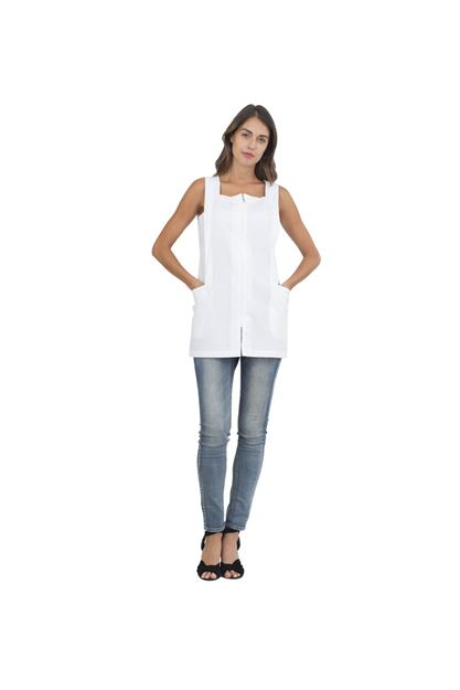 ΓΥΝΑΙΚΕΙΑ ΡΟΜΠΑ SIGGI HORECA FRANCIS LADIES PINAFORE WHITE