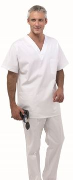 UNISEX ΜΠΛΟΥΖΑ ΙΑΤΡΟΥ SIGGI STEP ONE MEDICAL TUNIC WHITE