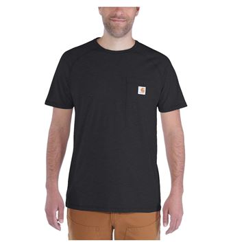 T-SHIRT FORCE COTTON SHORT SLEEVE BLACK - CARHARTT 100410