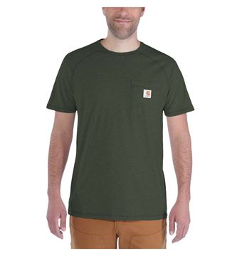 T-SHIRT FORCE COTTON SHORT SLEEVE MOSS  - CARHARTT 100410