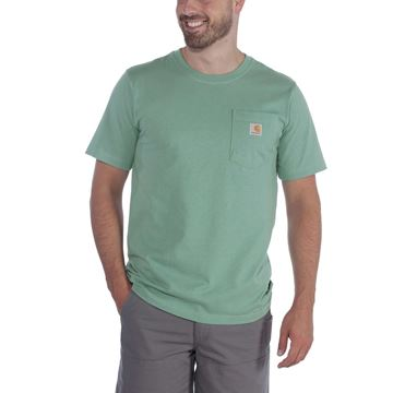 ΜΠΛΟΥΖΑΚΙ CARHARTT 103296 WORKWEAR POCKET SHORT SLEEVE T-SHIRT BOTANIC GREEN