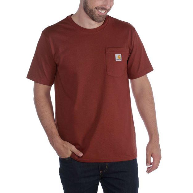ΜΠΛΟΥΖΑΚΙ CARHARTT 103296 WORKWEAR POCKET SHORT SLEEVE T-SHIRT RED