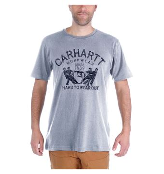 T-SHIRT MADDOCK HARD TO WEAR OUT 102097 GREY - CARHARTT