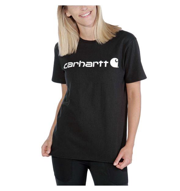 ΓΥΝΑΙΚΕΙΟ ΜΠΛΟΥΖΑΚΙ CARHARTT 103592 CORE LOGO T-SHIRT BLACK
