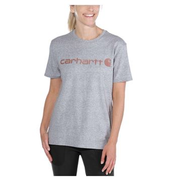 ΓΥΝΑΙΚΕΙΟ ΜΠΛΟΥΖΑΚΙ CARHARTT 103592 CORE LOGO T-SHIRT HEATHER GREY