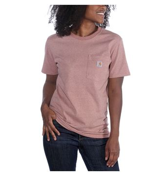 ΓΥΝΑΙΚΕΙΟ ΜΠΛΟΥΖΑΚΙ CARHARTT 103067 POCKET T-SHIRT RED SNOW HEATHER