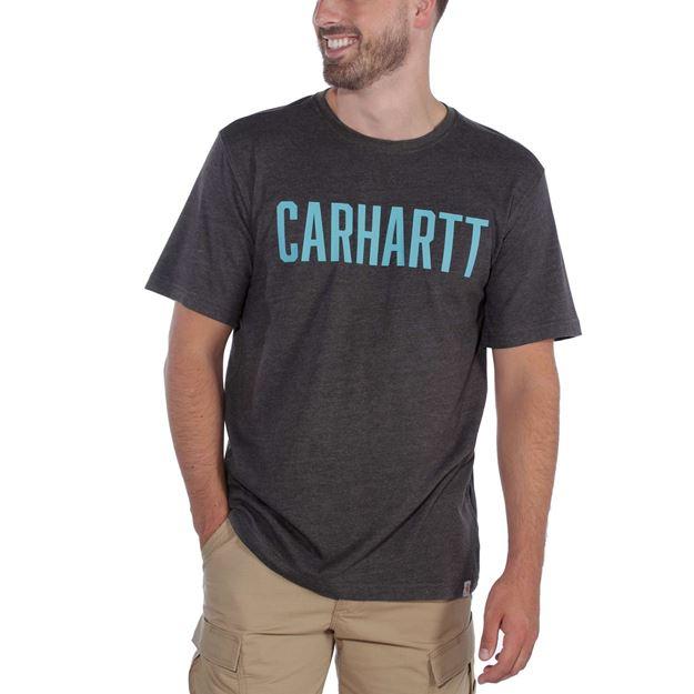 ΜΠΛΟΥΖΑΚΙ CARHARTT 104267 BLOCK LOGO T-SHIRT CARBON HEATHER