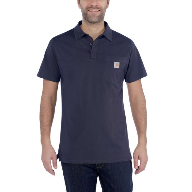 CARHARTT ΜΠΛΟΥΖΑΚΙ FORCE DELMONT POCKET POLO 103569 NAVY