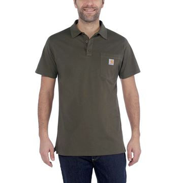 CARHARTT ΜΠΛΟΥΖΑΚΙ FORCE DELMONT POCKET POLO 103569 MOSS