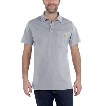 CARHARTT ΜΠΛΟΥΖΑΚΙ FORCE DELMONT POCKET POLO 103569 HEATHER GREY