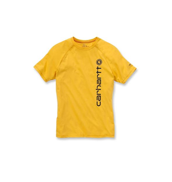 T-SHIRT FORCE COTTON DELMONT GRAPHIC 101121 YELLOW CARHARTT