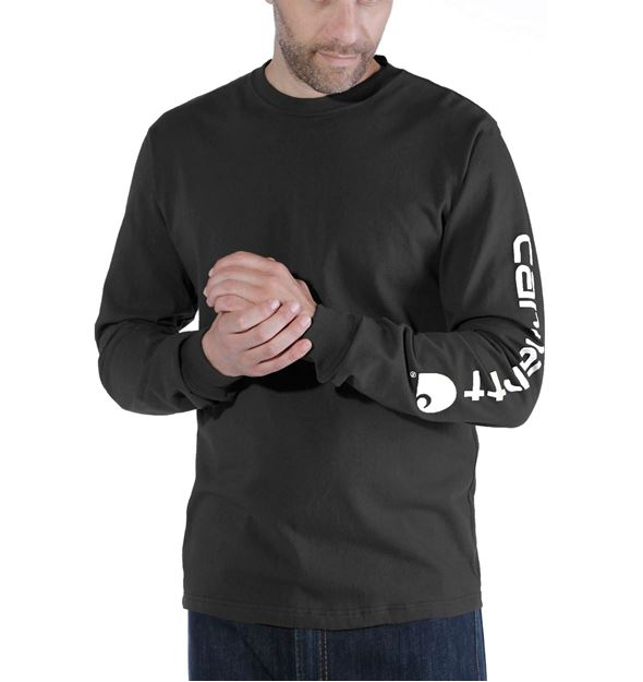 LOGO LONG SLEEVE T-SHIRT EK231 BLK - CARHARTT
