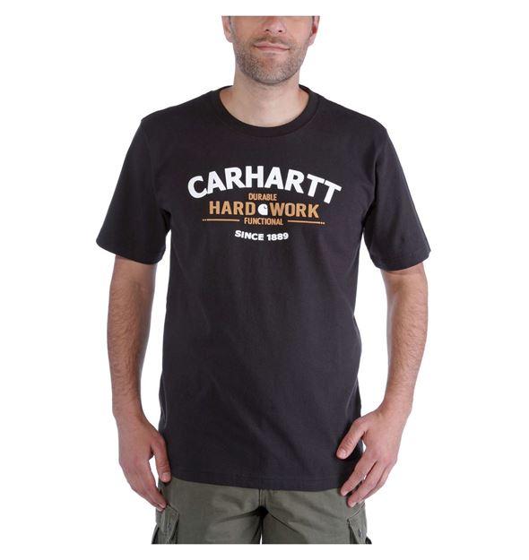 ΜΠΛΟΥΖΑΚΙ CARHARTT 103406 WORKWEAR GRAPHIC HARD WORK SHORT SLEEVE T-SHIRT  BLACK