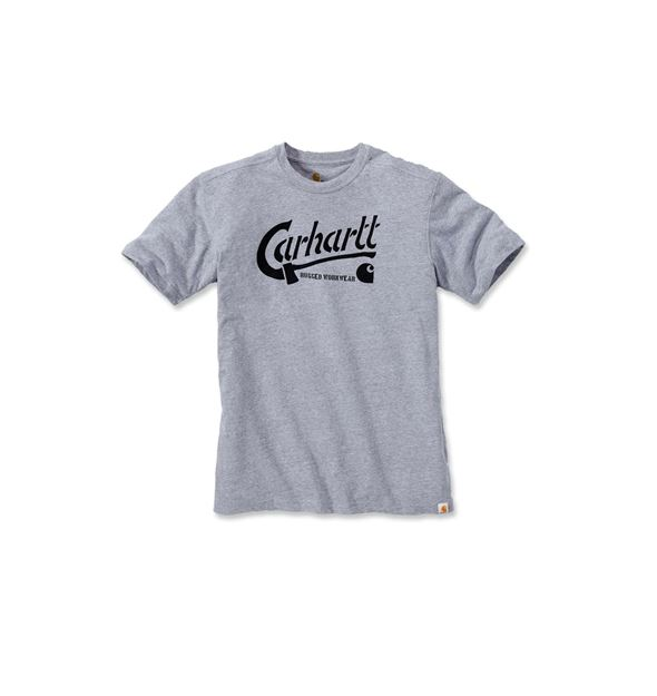 ΜΠΛΟΥΖΑΚΙ CARHARTT 103183 GRAPHIC SHORT SLEEVE T-SHIRT  HEATHER GREY