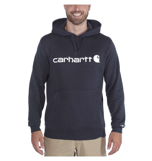 Μπλούζα FORCE DELMONT GRAPHIC HOODED SWEATSHIRT 103873 NAVY HEATHER - CARHARTT
