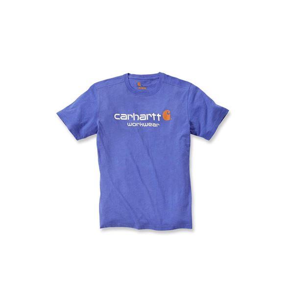 T-SHIRT CORE LOGO SHORT SLEEVE 101214 BLUE HEATHER - CARHARTT