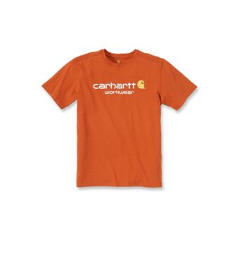 T-SHIRT CORE LOGO SHORT SLEEVE 101214 ORANGE - CARHARTT