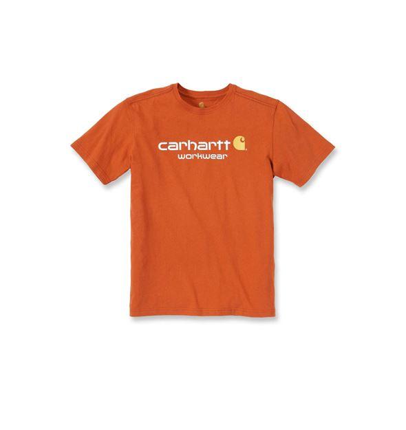 T-SHIRT CORE LOGO SHORT SLEEVE 101214 ORANGE - CARHARTT