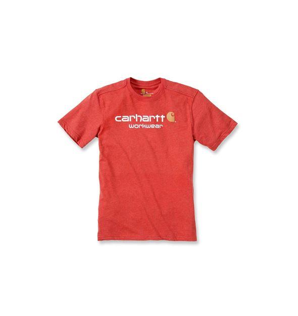 T-SHIRT CORE LOGO SHORT SLEEVE 101214 RED - CARHARTT