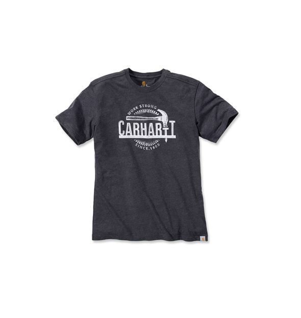 ΜΠΛΟΥΖΑΚΙ CARHARTT 103202 MADDOCK HAMMER T-SHIRT  CARBON HEATHER