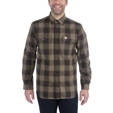 ΠΟΥΚΑΜΙΣΟ CARHARTT SLIM-FIT FALLNEL SHIRT 104144 - BURNT OLIVE