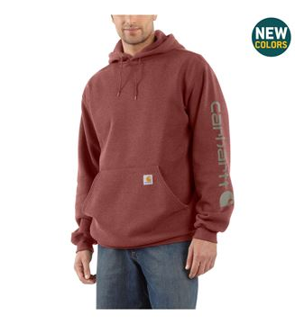 ΜΠΛΟΥΖΑ MIDWEIGHT SLEEVE LOGO HOODED K288 IRON ORE HEATHER  - CARHARTT