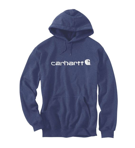 Μπλούζα SIGNATURE LOGO HOODED SWEATSHIRT 100074 DUSK BLUE HEATHER - CARHARTT
