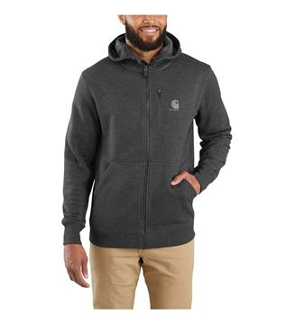 ΖΑΚΕΤΑ FORCE DELMONT FULL ZIP HOODED SWEATSHIRT 103851 BLACK HEATHER - CARHARTT
