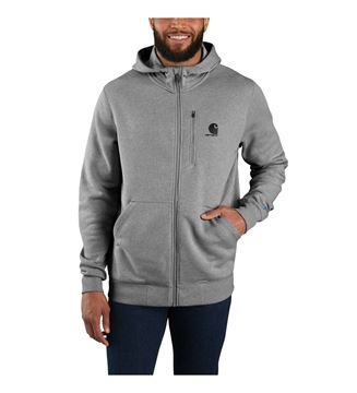 ΖΑΚΕΤΑ FORCE DELMONT FULL ZIP HOODED SWEATSHIRT 103851 ASPHALT HEATHER - CARHARTT