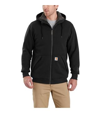 ΖΑΚΕΤΑ FLEECE SHERPA LINED ZIP HOODED SWEATSHIRT 103308 BLACK - CARHARTT