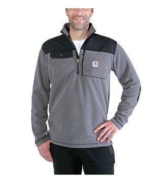 ΜΠΛΟΥΖΑ FLEECE CARHARTT FALLON HALF-ZIP SWEATSHIRT 102836 CHARCOAL