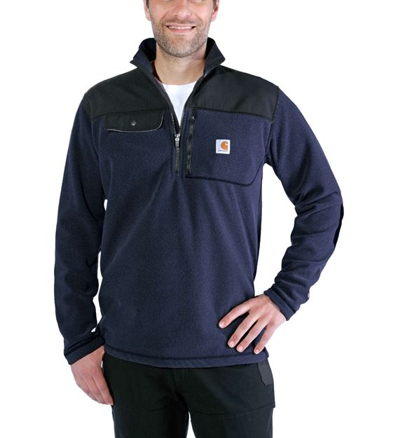 ΜΠΛΟΥΖΑ FLEECE CARHARTT FALLON HALF-ZIP SWEATSHIRT 102836 NAVY