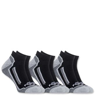 ΚΑΛΤΣΕΣ (Σετ 3 Ζεύγη) CARHARTT FORCE PERFORMANCE  SOCKS BLACK A328-3