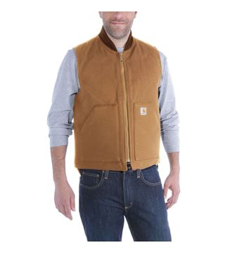 ΓΙΛΕΚΟ ΕΡΓΑΣΙΑΣ DUCK ARCTIC VEST V01 BROWN - CARHARTT