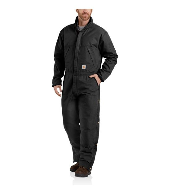 ΦΟΡΜΑ ΕΡΓΑΣΙΑΣ WASHED DUCK INSULATED COVERALL 104396 BLACK - CARHARTT